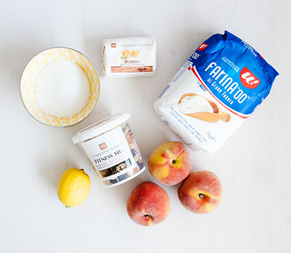Fitness crumble alle pesche