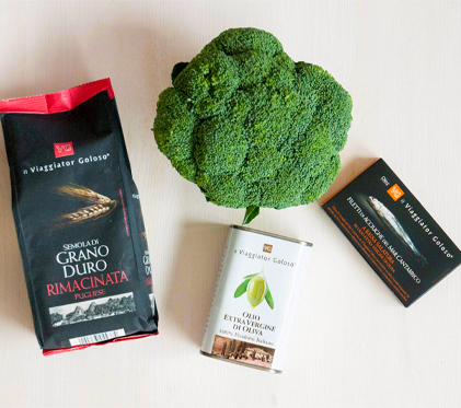 Maltagliati con acciughe e broccoli