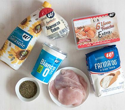 Muffin salati con pollo, scamorza e santoreggia